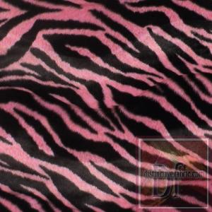 Pink Zebra Print Fur www.distinctivefabric.com
