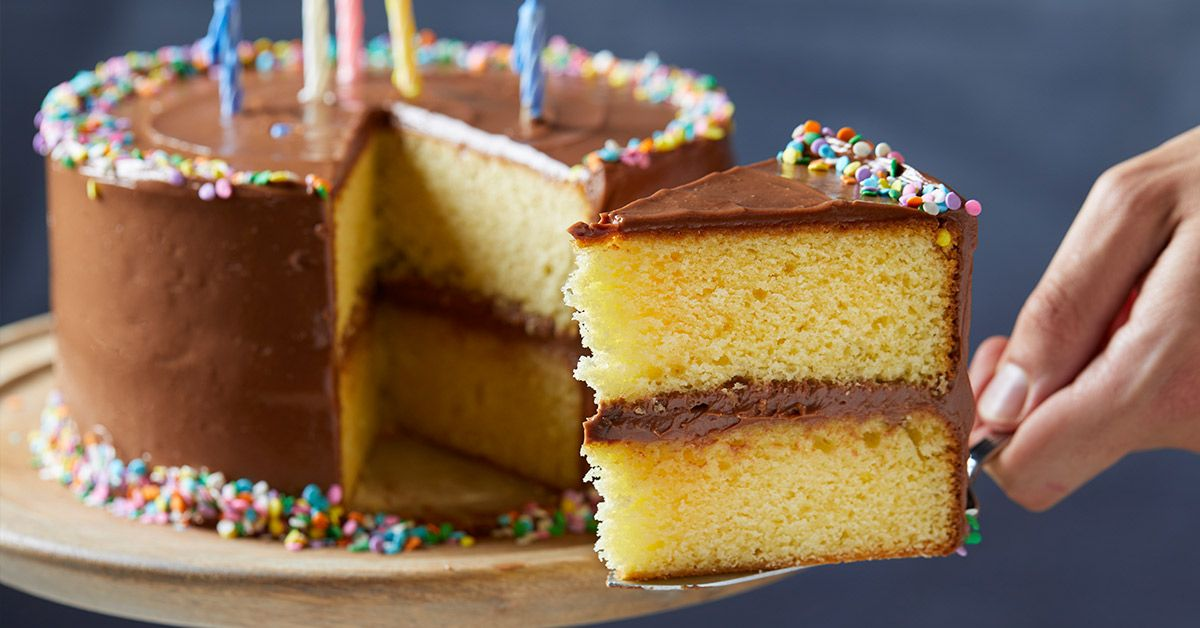 How To Make The Perfect Birthday Cake Recipe Chocolate Frosting Recipes Yellow Cake With Chocolate Frosting Recipe Yellow Cake