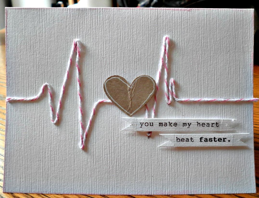 This is just clever! You make my heart beat faster. #card #valentines...this would be cute for a scrapbook layout...maybe a couples picture in the middle of the heart.