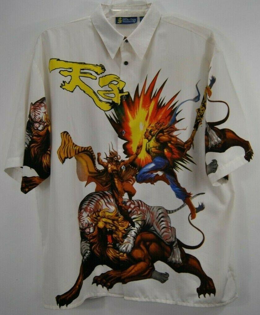 Billion bay mens 2xl multi color hawaiian shirt samurai