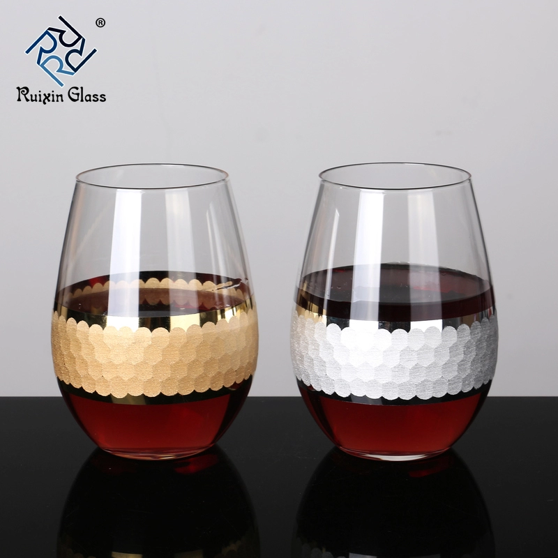 W121 New Design Top Quality Personalized Stemless Wine Glass Etched View Stemless Wine Glass Etched Ruixin Product Details From Shenzhen Ruixin Glassware Co
