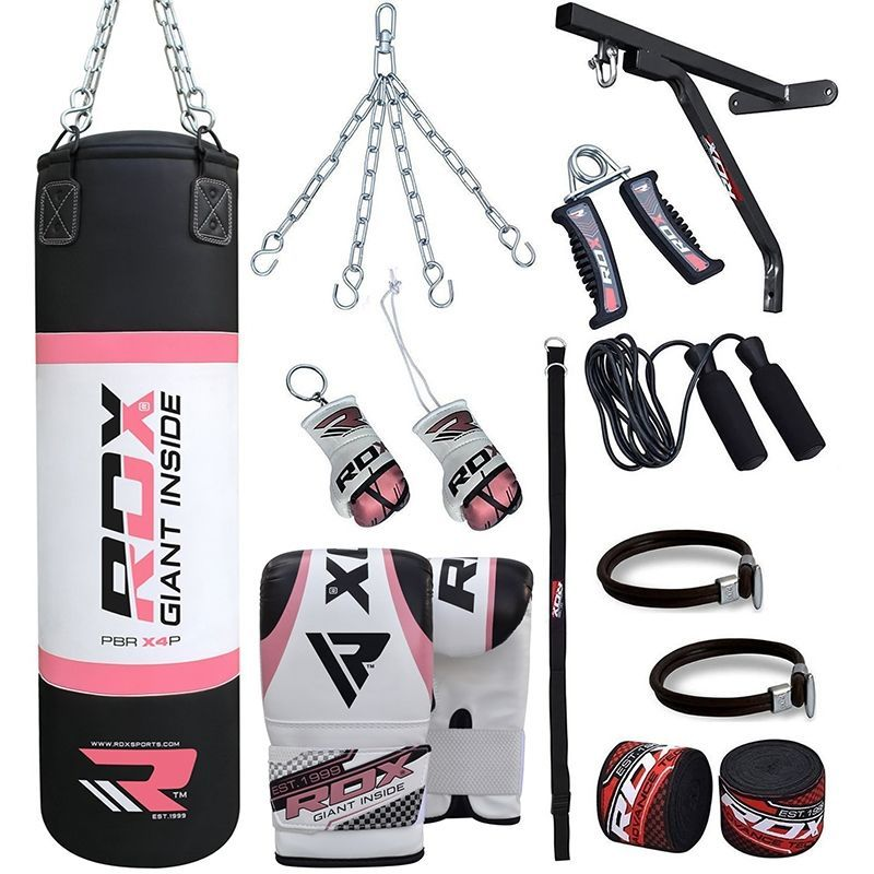 Rdx X2 17pcs Set Heavy Boxing Punch Bag Mitts Home Gym Kit Muay Thai Punching Bag Heavy Punching Bag