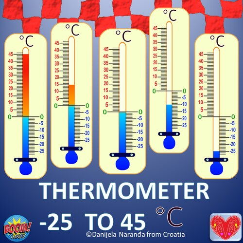 Thermometer Scales Of Temperature Celsius Degrees Clipart Clip Art Thermometer Star Template