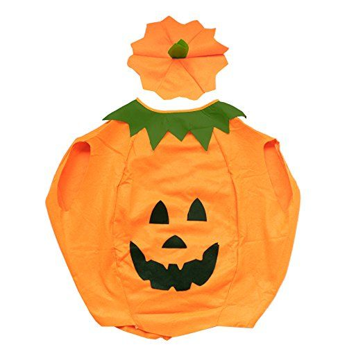 Kids Pumpkin Fancy Dress Costume Cosplay Halloween Party Funny Outfit UK