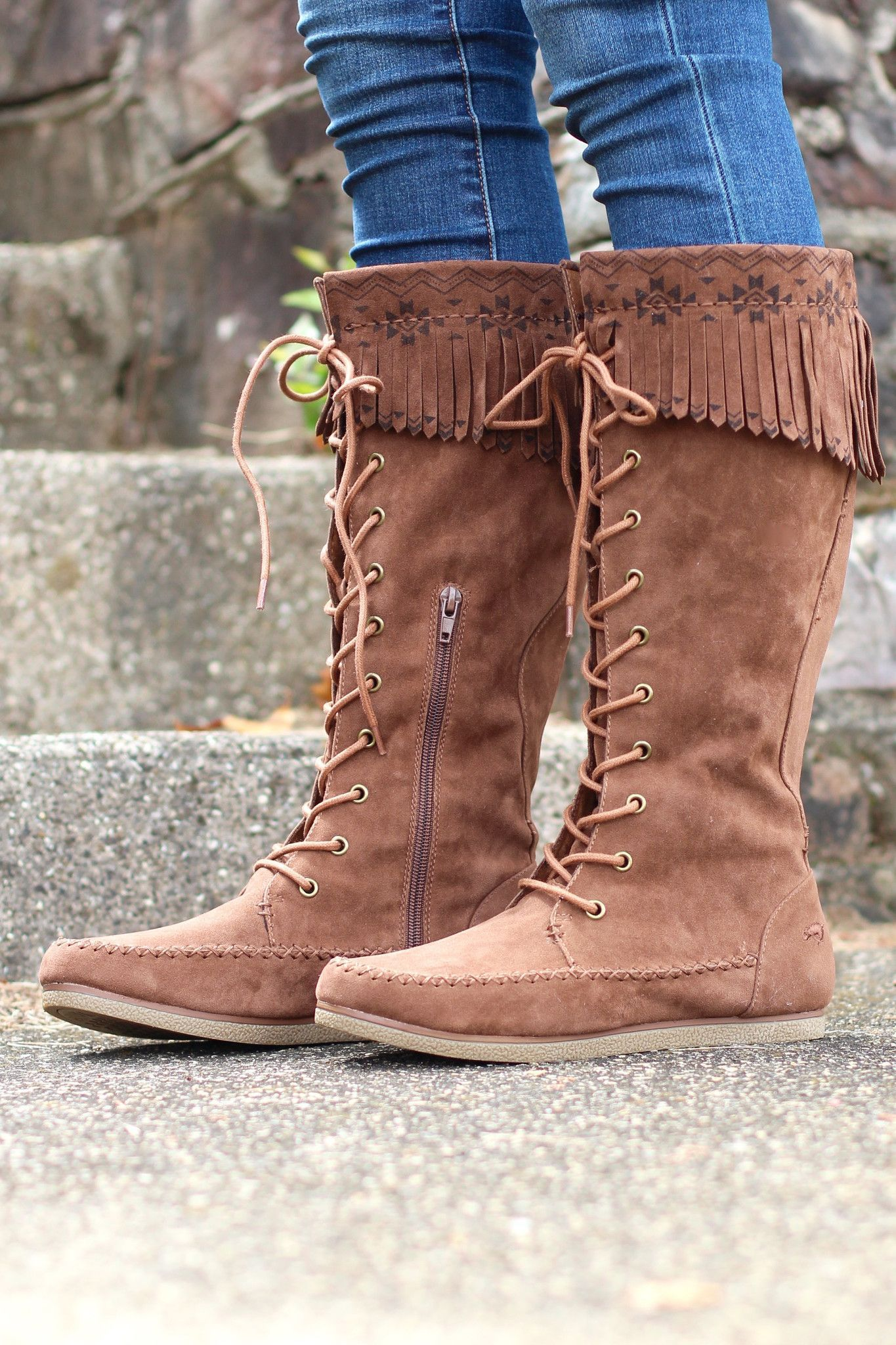 c5cbf40d4dc Veronah Lace-Up Moccasin Boot {Chestnut} in 2019 | Products ...