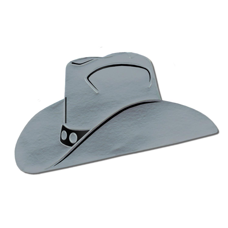 4d6491fe69a9f Western Foil Cowboy Hat Silhouette silver (24 Case)