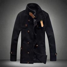 2015 nueva sección larga marca moda chaqueta de invierno cuello alto chaqueta hombres abrigos hombres chaqueta del otoño del resorte deporte exterior tamaño M-5XL(China (Mainland))