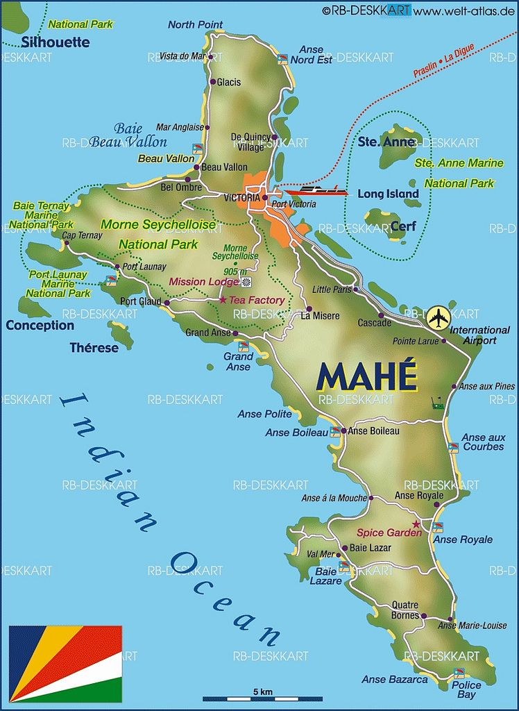 Mahe Island Map In 2020 Seychelles Islands Seychelles Vacation