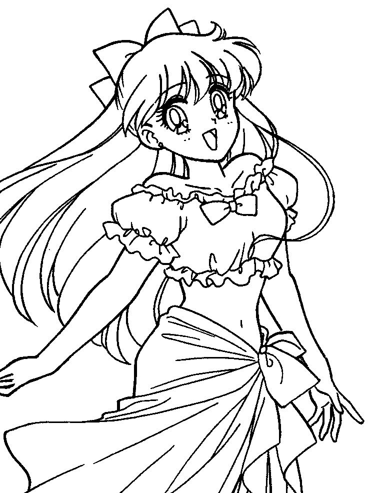 Sailor Venus Cute | Sailor Moon Coloring Pages | Pinterest | Sailor ...