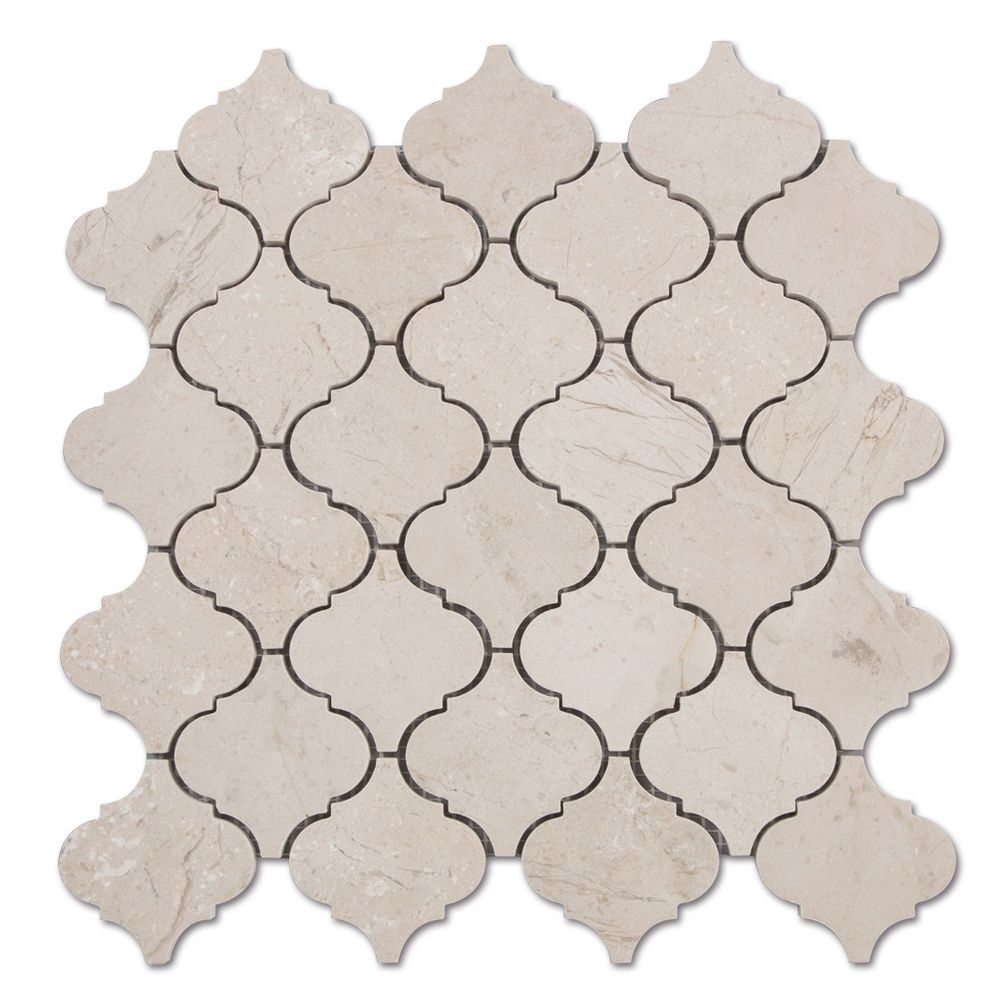 crema marfil marbl arabesque lantern mosaic tile beige kitchen crema marfil marbl arabesque lantern mosaic tile beige kitchen backsplash sample