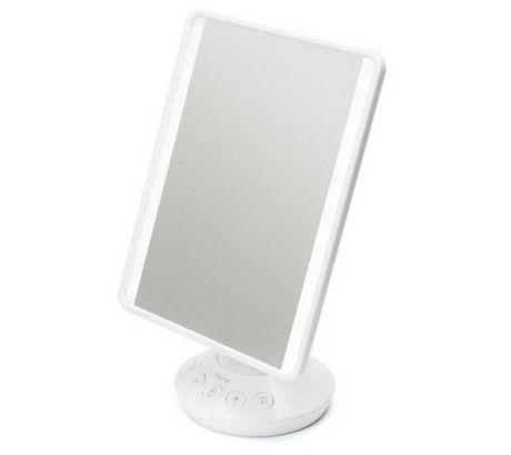 Ihome Vanity Mirror 7x9i W Bluetooth Speaker And Usb Silver