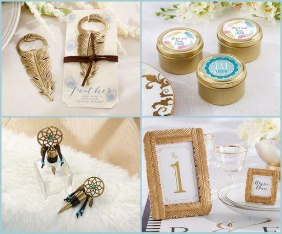 Bohemian Gold Wedding Favors