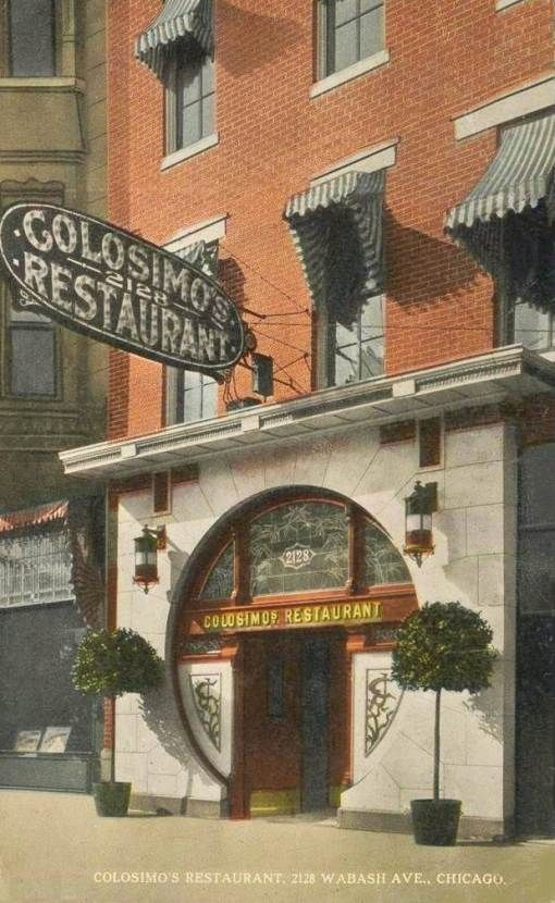 Postcard Chicago Colosimo S Restaurant 2128 Wabash