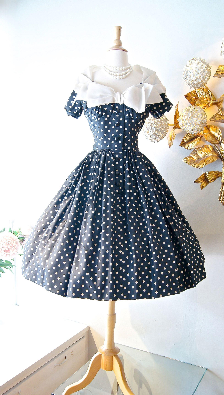 Vintage 50s Cocktail Party Dress Vintage 1950 S Dresses For Sale Uk Vintage 1950s Dresses Vintage Dresses Vintage Dresses 50s