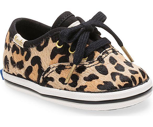 1b966048f884 KEDS X kate spade new york Calf Hair Champion Crib Leopard Sneaker ...
