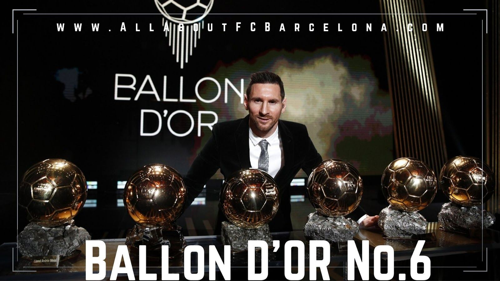 Lionel Messi Wins Ballon D Or For A Record Sixth Time Lionel Messi Messi Ballon D Or