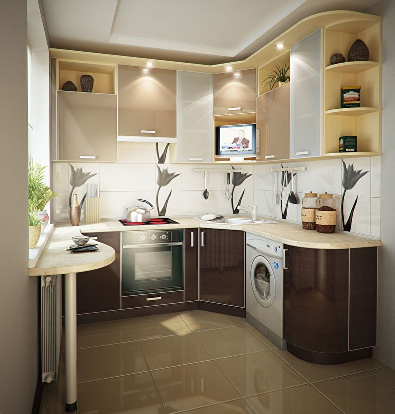Дизайн кухни 9 кв.м. - 80 фото интерьеров, идеи для ...