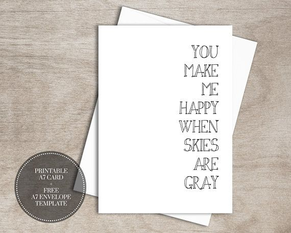 Printable You Are My Sunshine Card For Him Instant Download Etsy Printable Anniversary Cards You Are My Sunshine Greeting Card Template