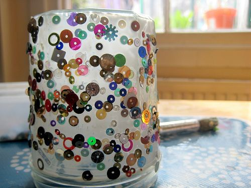 Jam Jar Candle Holder Craft Art And Craft Pinterest