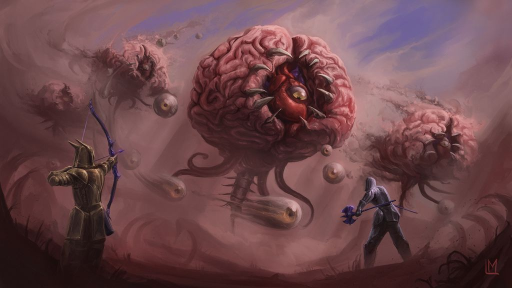 Brain Of Cthulhu By Bohrokki On Deviantart In 2020 Animated Anatomy Brain Of Cthulhu Cool Artwork