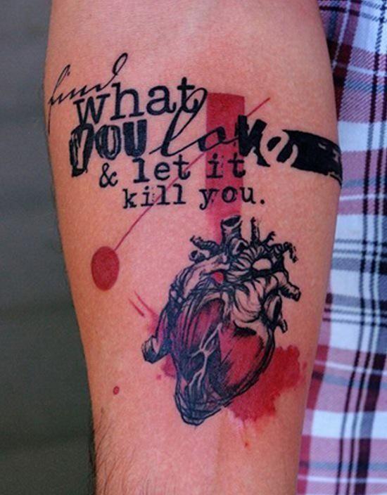 20 Inspiring Lettering Tattoos Cool Ink Tattoo Ideen Tattoo