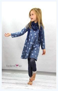 Das+Basic-+Kleid+für+Kids+kann+ab+Größe+74+bis+164+in+langarm+oder+kurzarm+genäht+werden.