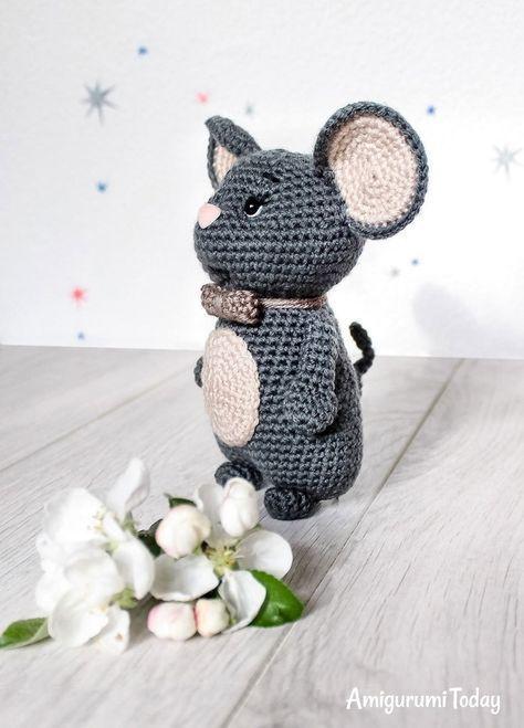 Patrón de ratón amigurumi gratis por Amigurumi Hoy | ternuritas ...