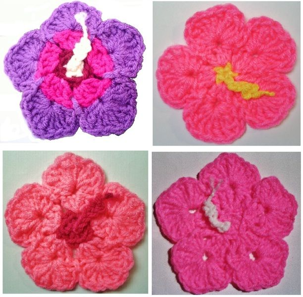 Crochet Pattern PDF file for Hibiscus Flower & Leaf Coasters & Hot ...