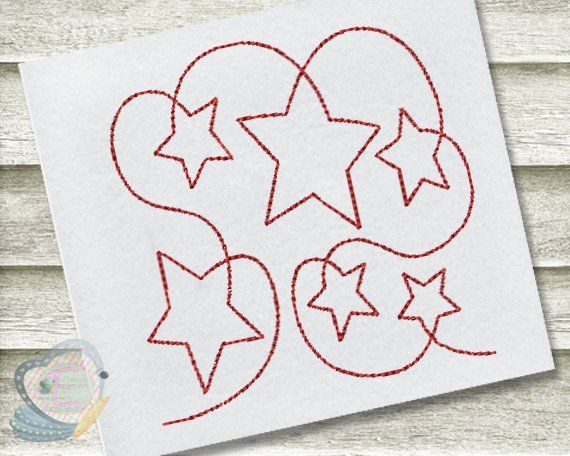 Star Continuous Line Quilt Machine Embroidery Design