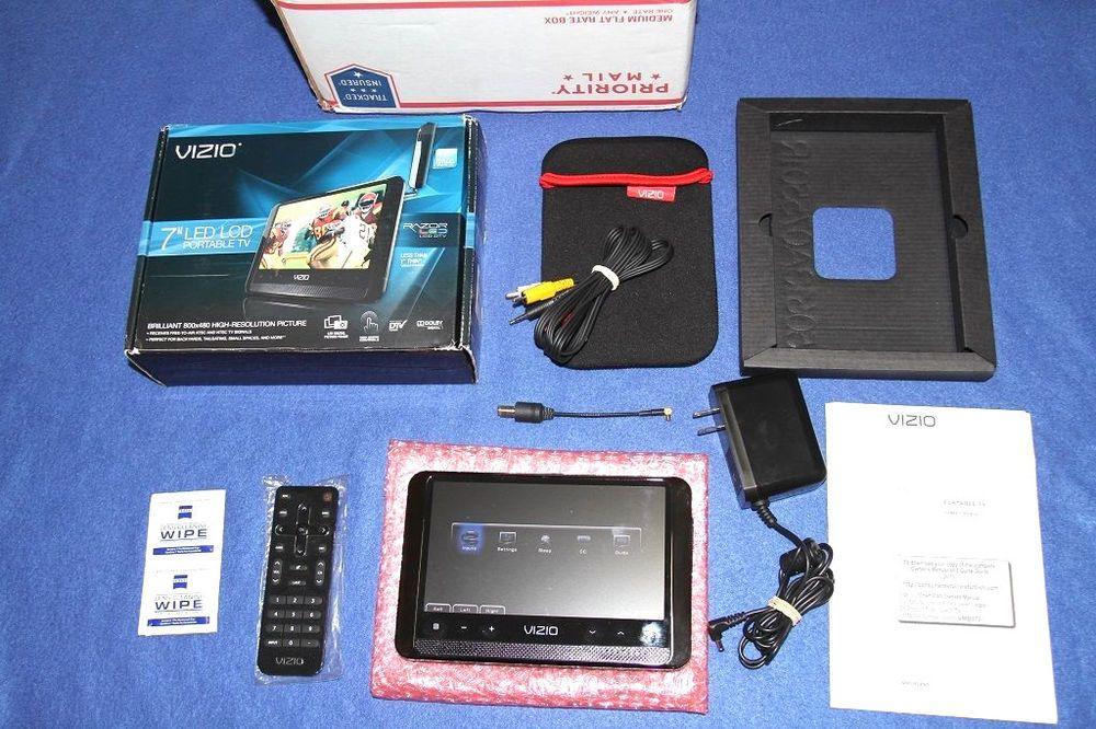 "Vizio Portable HD TV Television VMB070 7"" Razor LED LCD Monitor Digital 1080…"