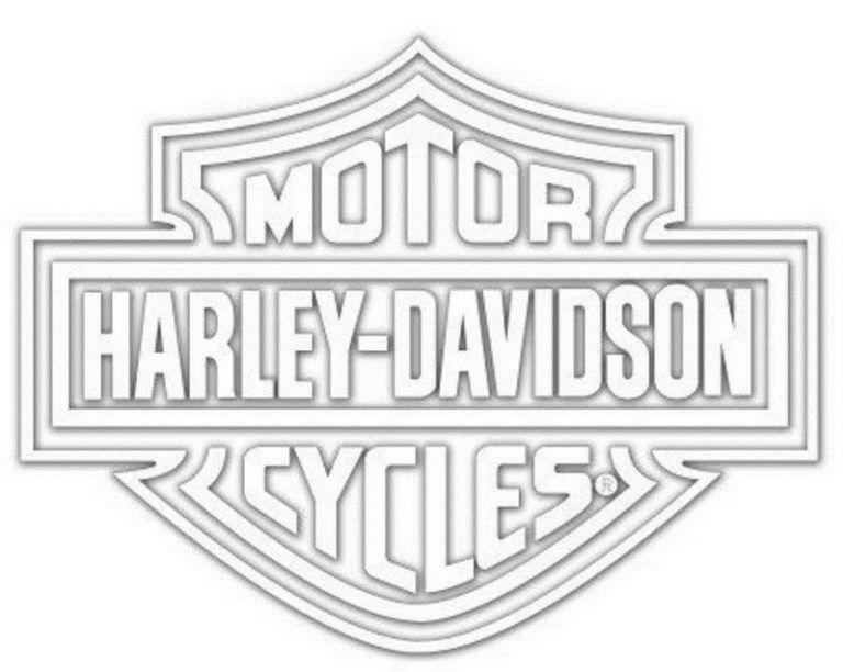 Harley Davidson Logo Coloring Sheet Line Art Harley Davidson Logo, Harley  Davidson Decals, Harley Davidson