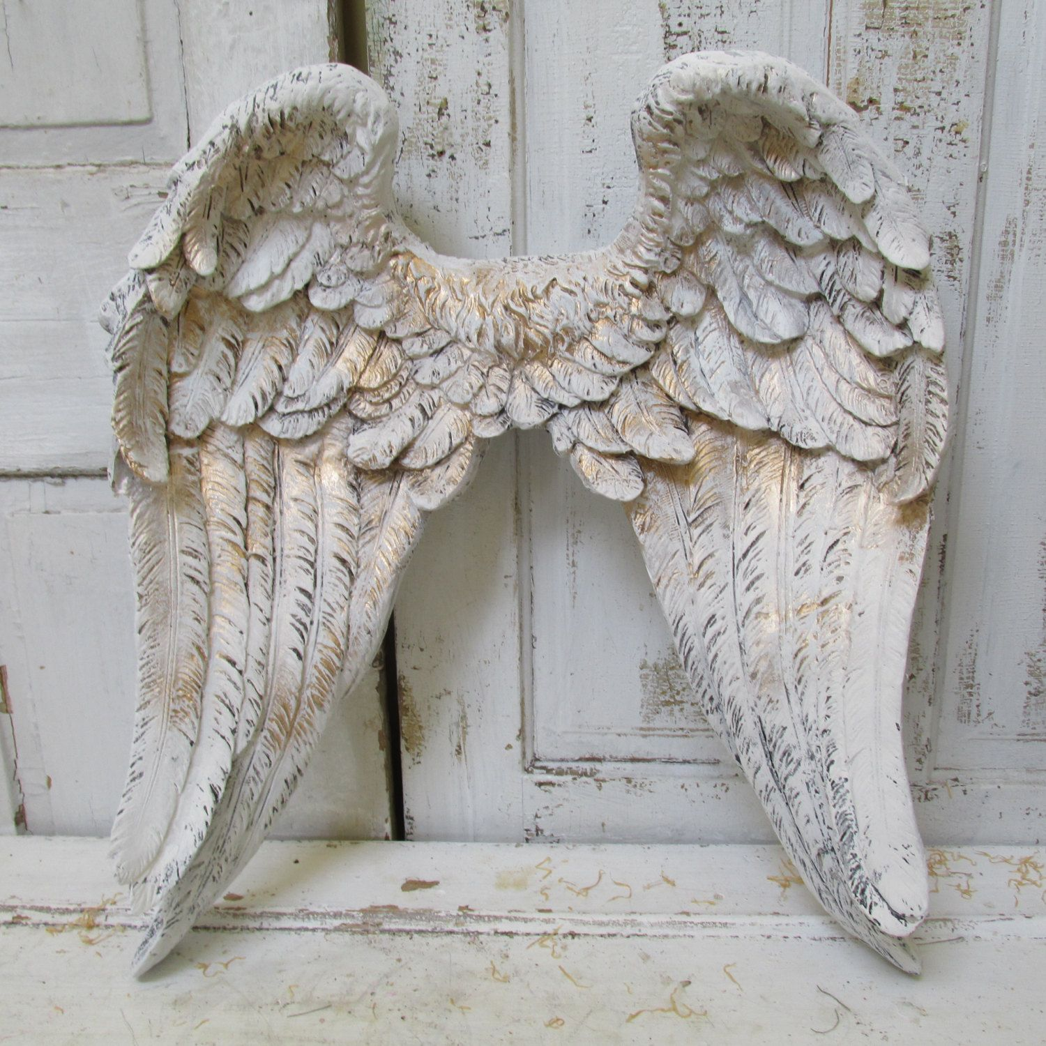 Large angel wings wall sculpture hand painted white accented large angel wings wall sculpture hand painted white accented amipublicfo Gallery
