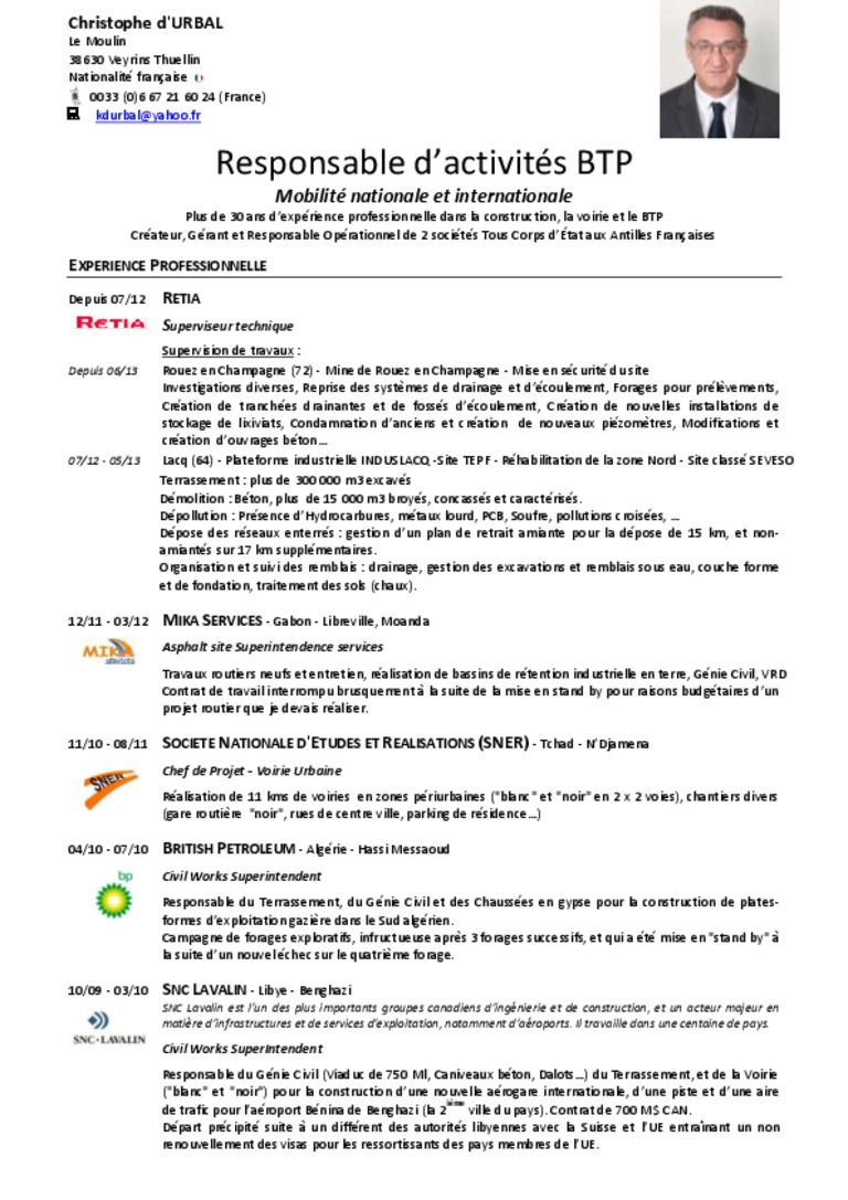 modele cv responsable production Exemple cv, Lettre de