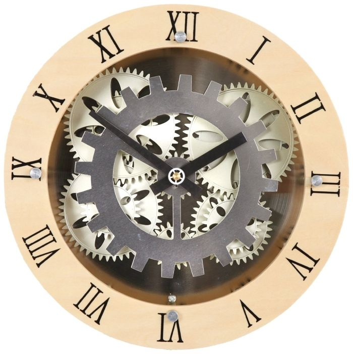7af77a8d54d1 Moving Gear Wall Clock | People and Things that I like... | Wooden ...