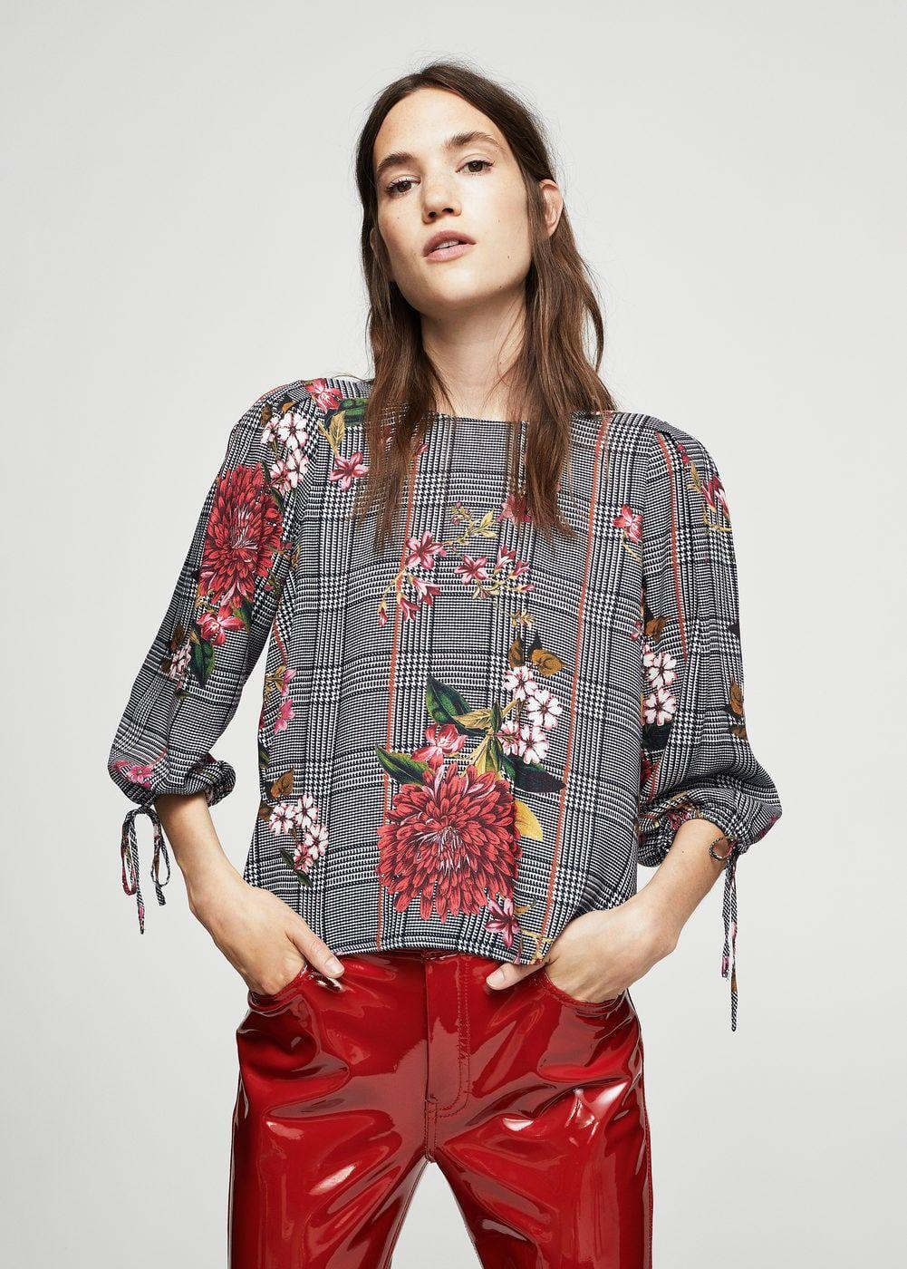 bastante baratas grande descuento venta cupón de descuento Blusa príncipe de gales floral - Mujer | Modelos de Costura ...