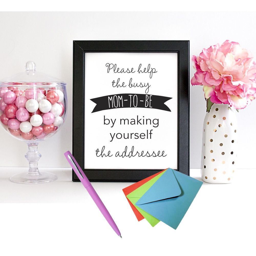Free Printable Address Request Baby Shower Sign With Images