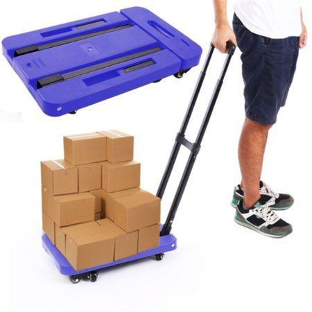 ba765fa34656 Folding Hand Truck and Dolly, 440 Lb Capacity Heavy-Duty Luggage ...