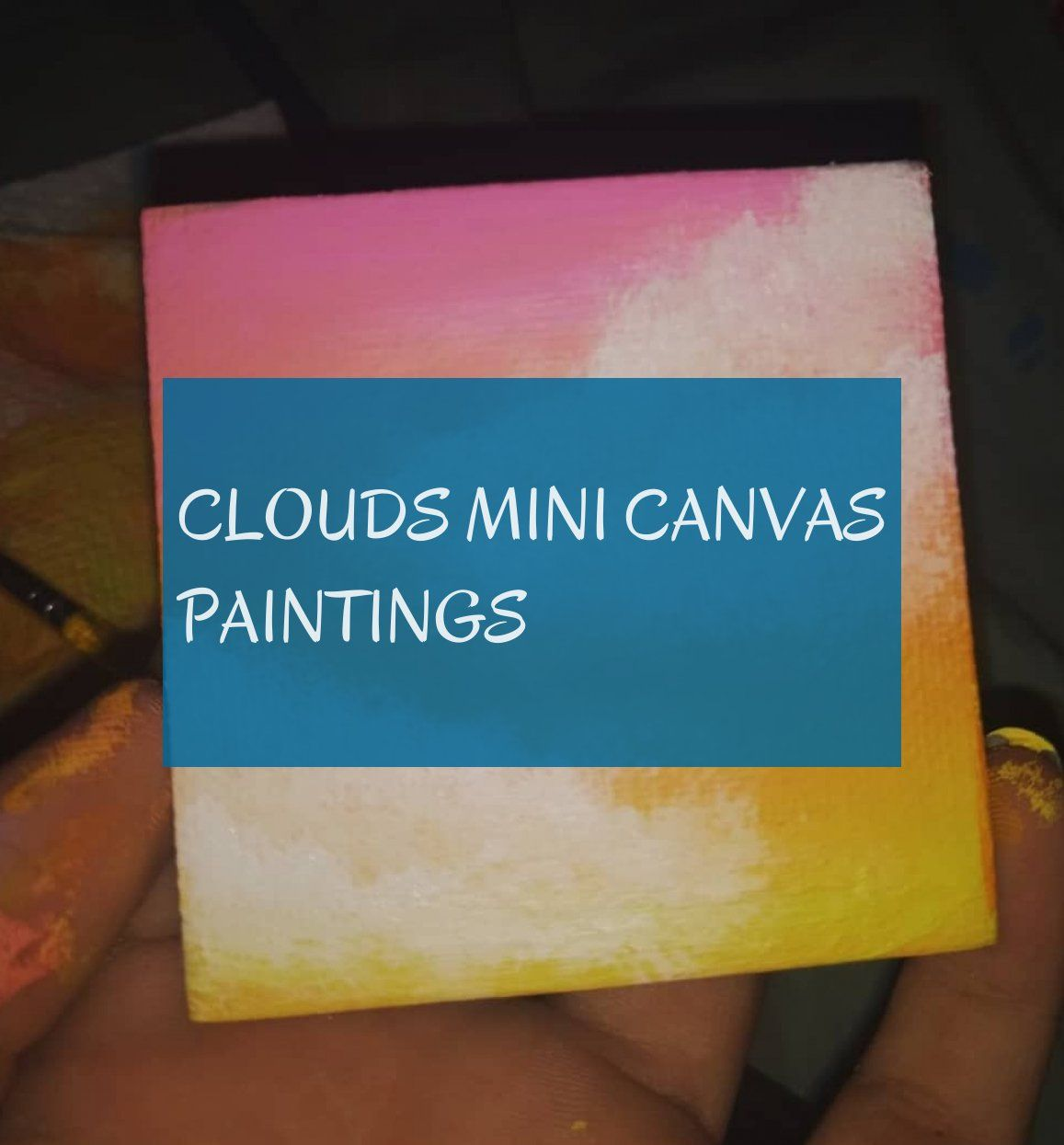 Clouds mini canvas paintings
