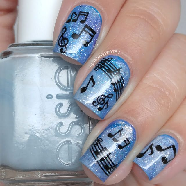 Lady Queen - Music Notes Water Decals | nails | Pinterest | Music ...