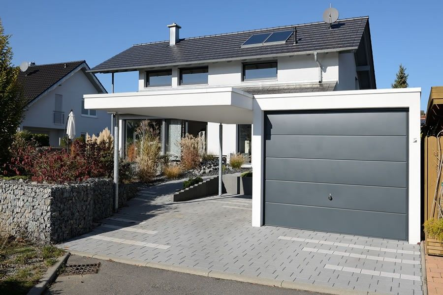 Garagen Carport Kombination Als Fertiggarage | Garage | Pinterest |  Fertiggaragen, Garage Und Kombination