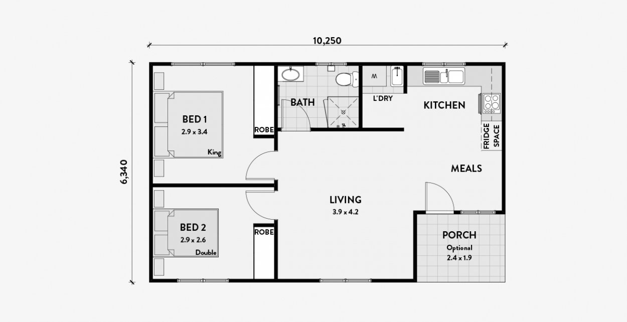 Executive 2 Bedroom Granny Flat Granny Flat Flat Plan Granny Flat Plans