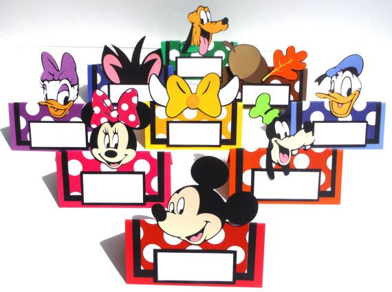 9 Mickey Mouse Clubhouse Themed Tent Style Food Table Labelu0027s / Name Cards Minnie Donald Daisy  sc 1 st  Pinterest & 9 Mickey Mouse Clubhouse Themed Tent Style Food Table Labelu0027s ...