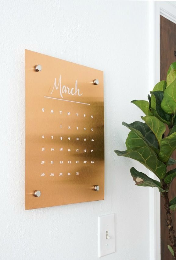 Create this DIY copper message board and calendar to help you stay