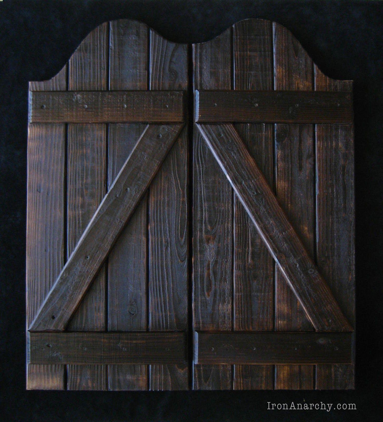 Handcrafted Custom Swinging Saloon Doors Here S A Recently