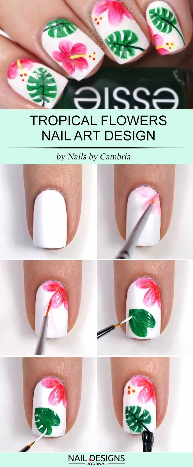 17 Super Easy Nail Designs DIY Tutorials | Pinterest | Flower seeds ...