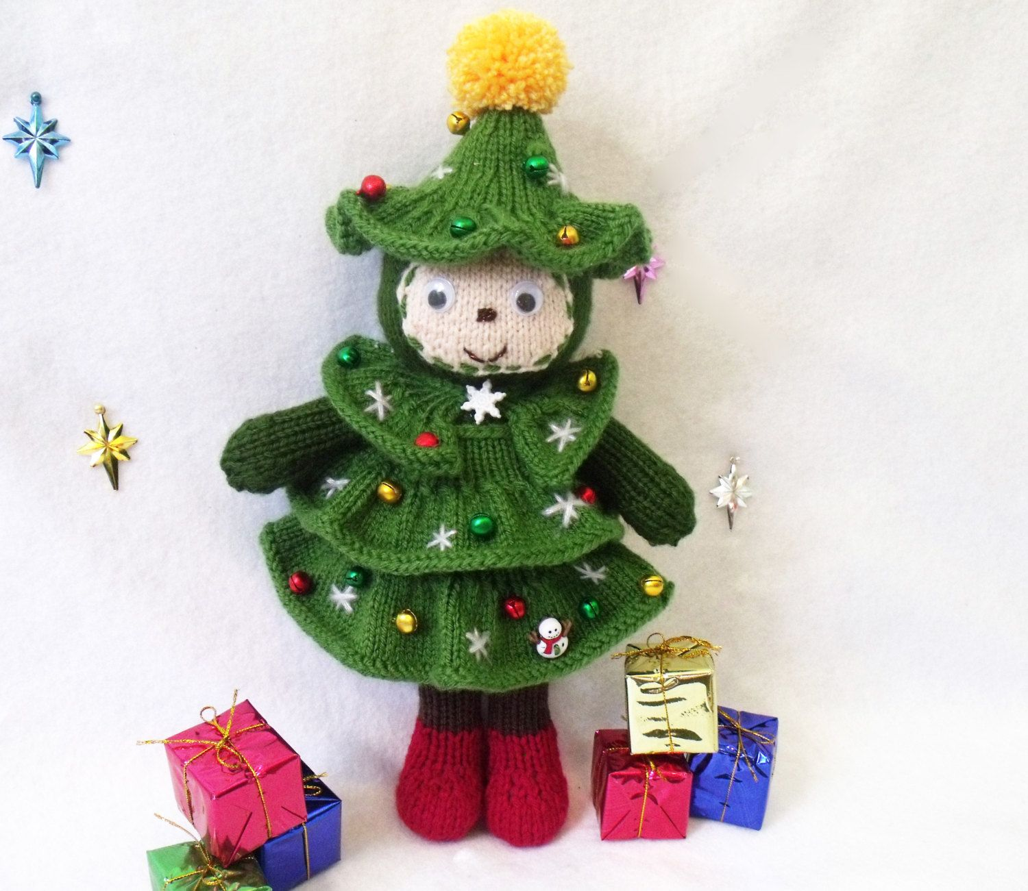 Christmas tree doll. Toy knitting pattern. Christmas decoration. PDF ...