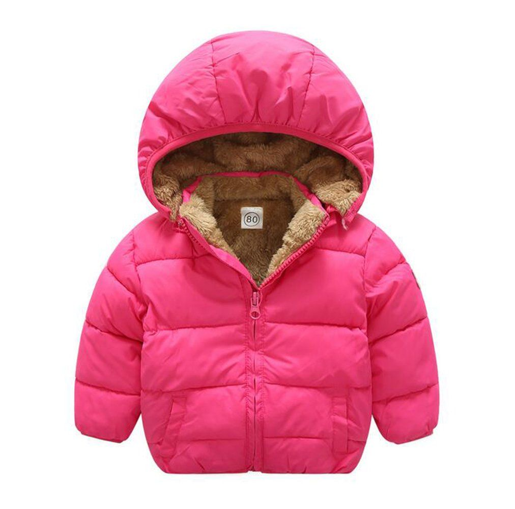 a887fb0052cf Baby Boys Girls Winter Puffer Coat Unisex Kids Fleece Lined Jacket ...