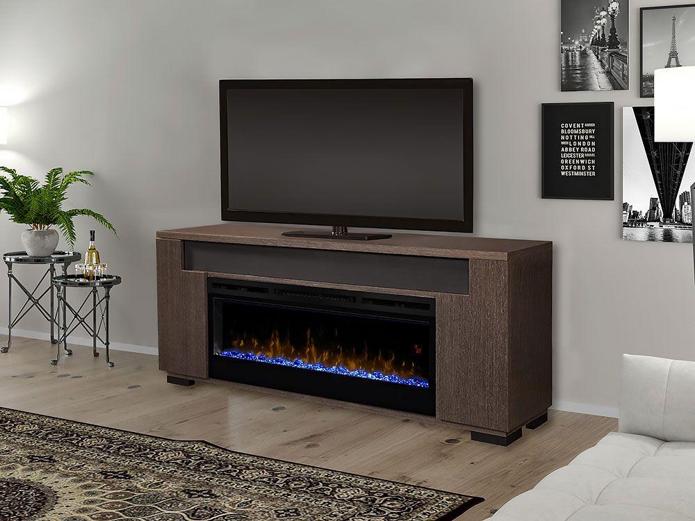 Haley Media Cabinet Rift Grey 50 Linear Firebox 1671rg
