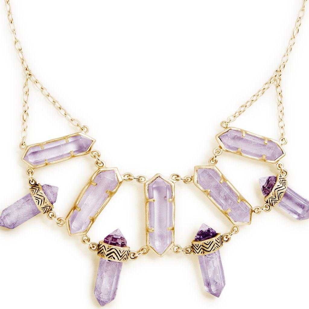 North star gold amethyst amethyst crystal gold filled chain