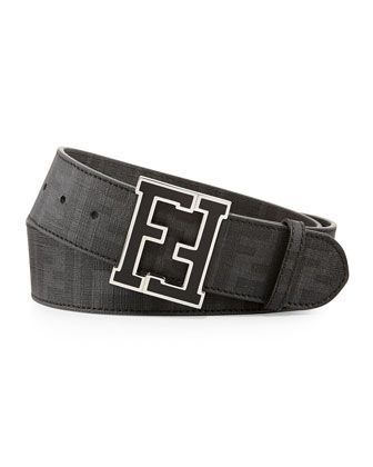 10b32b48 Men's Zucca College Belt Brown/Gold | MEN MEN MEN | Fendi belt ...